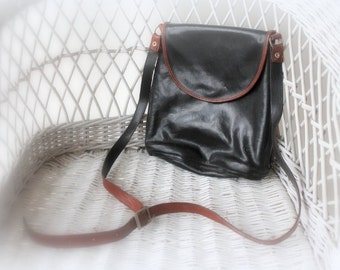 Back Packs-small leather back sac- leather black/brown accessory- woman bag- shoulder bag- real leather