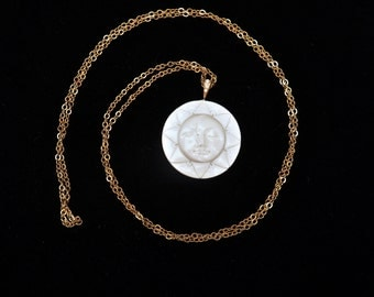 RARE MOON and SUN double sided necklace
