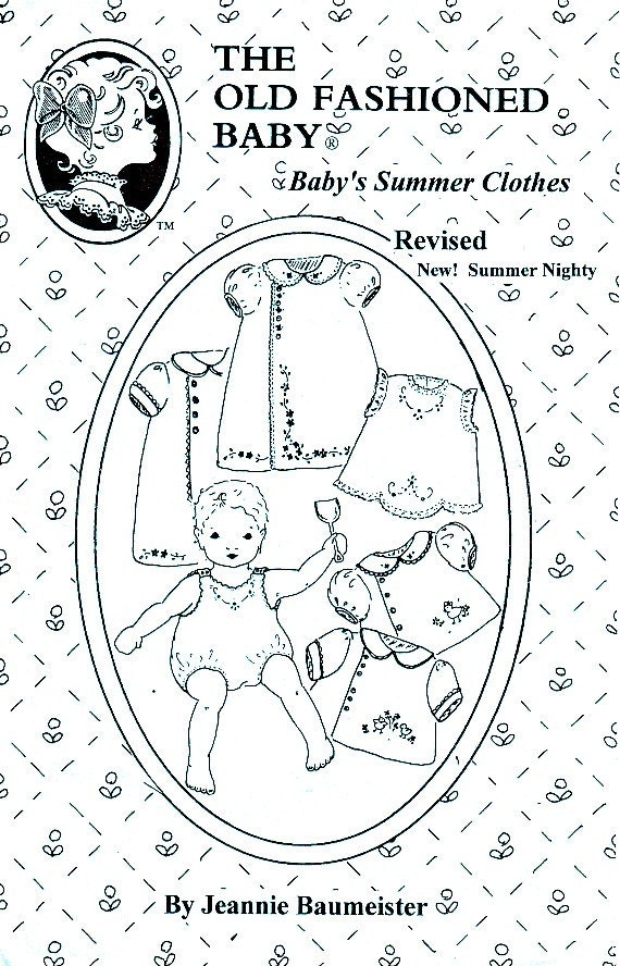 Infant s Old Fashioned Baby Summer Clothes Pattern