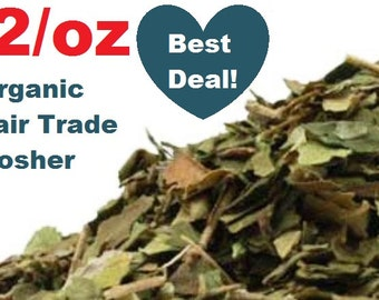 Organic GYMNEMA LEAF -1oz- Gymnema sylvestre, fair trade, kosher, non-GMO, natural herbal dried herb