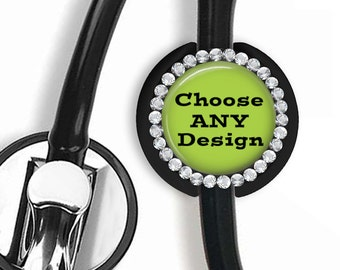 Stethoscope ID tag Personalized, Matching Any Posh Reels Bling Stethoscope ID tag