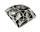 Large Diamond Painting Watercolor Diamond Painting Gemstone Art Marble Black White Artwork Minimalist Scandinavian Large Geometric Painting