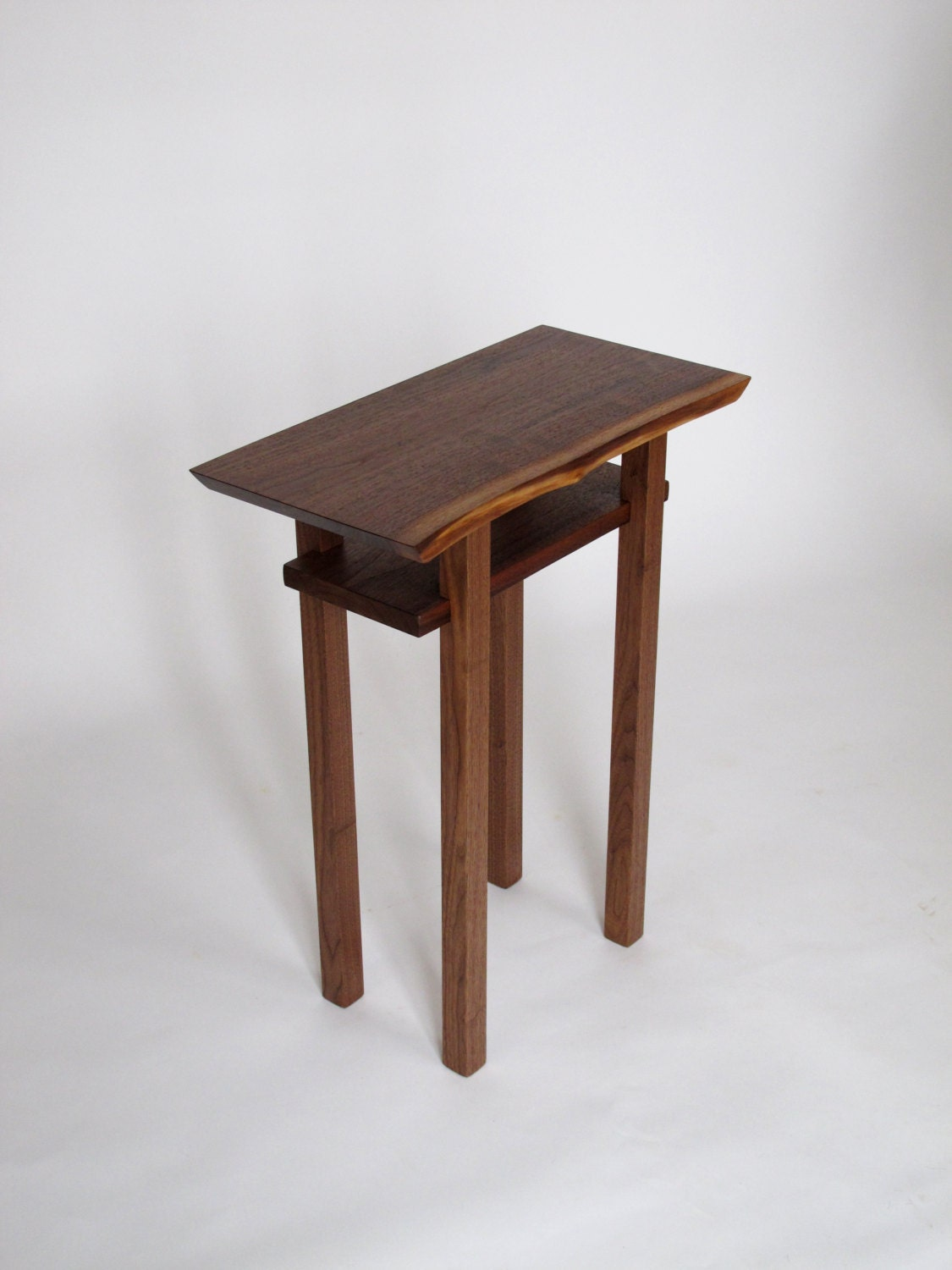 Live edge side end table small accent table bed side table for Small wood end table