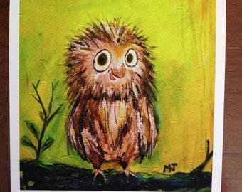 Lost Hoot, Owl Print