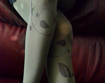 Poison Ivy Tights , Green Tights , Halloween Costume Tights