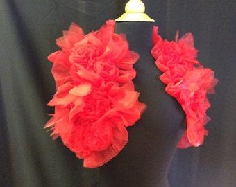 3D Red Rose Romantic  Shrug Bolero Valentine Wedding.