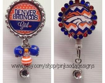Denver Broncos Inspired - Retractable ID Badge Holder