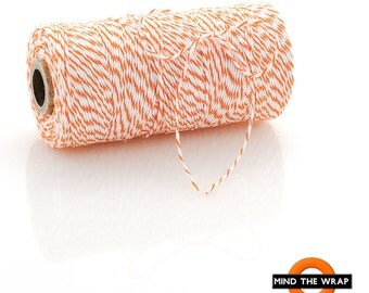 Orange Bakers Twine - 240 yard spool - 100% Cotton - Divine Twine Made in the USA - Biodegradeable
