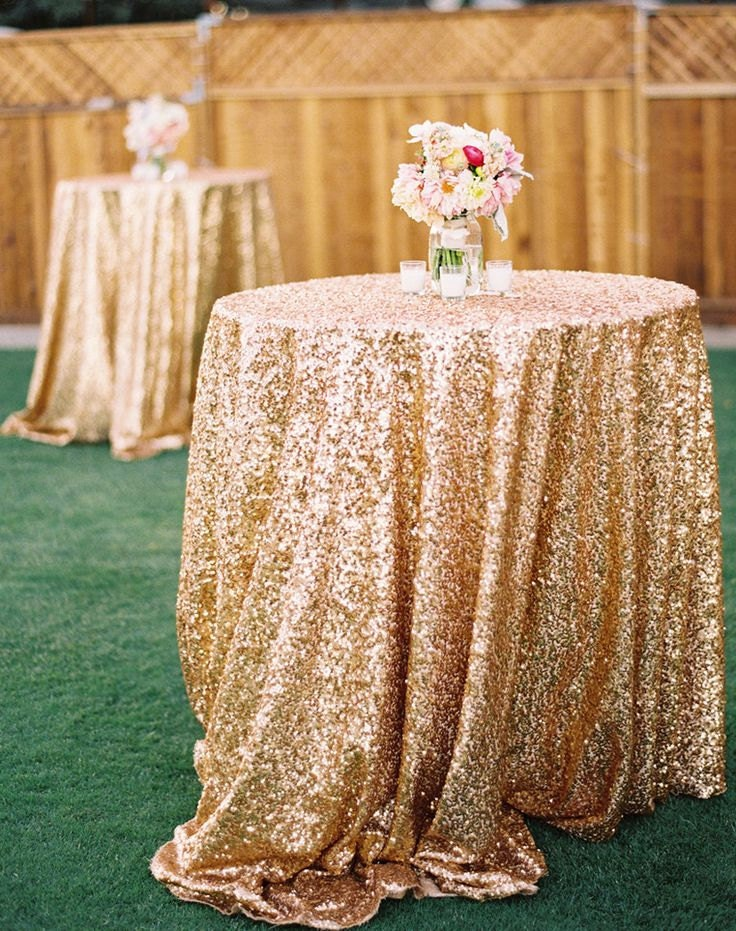 Gold Sequin Tablecloth Rush Orders By CandyCrushEvents On Etsy