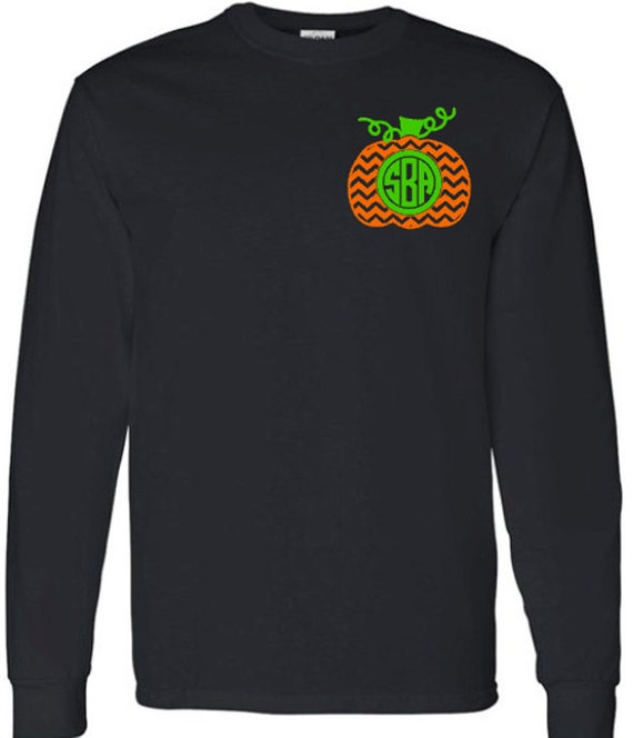 Items similar to chevron monogram pumpkin adult youth for Initials on dress shirts