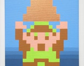 NES Legend of Zelda  painting Link Gaining the Triforce