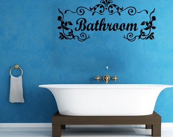 Bathroom Vinyl Wall Decal Quotes Home Sticker Decor (JR344)