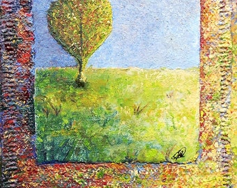 "original oil painting ""untitled""  3-1/2"" x 5-1/2"""