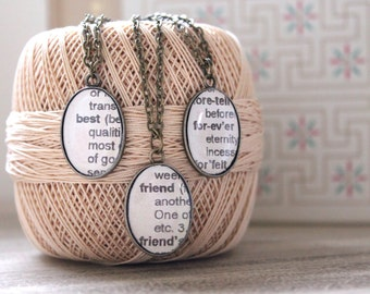 Bridesmaids Gift Three Best Friends Forever Necklace SetThree Best Friends Forever Necklace