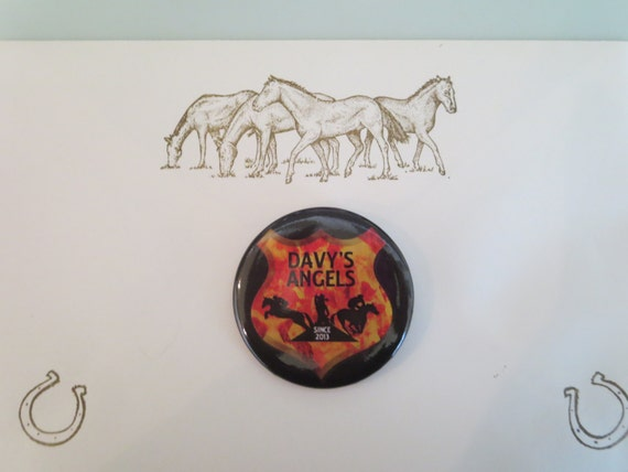 BUTTON - Davy's Angels Badge