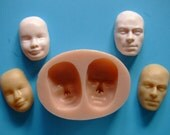 Food Grade (Male and Female Face) Silicone Mold for Fondant, Chocolate, Sugar Craft, Cake Topper