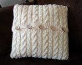 Cable Knit Button Pillow