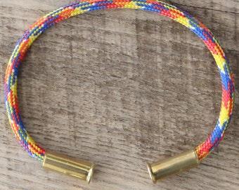 BRZN Bullet Casing Bracelet Primary Camo Paracord