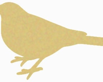 BIRD Unfinished Wooden Craft Shape, Do-It-Yourself