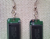 PlayStation microchip earrings from recycled retro PS video game conso...