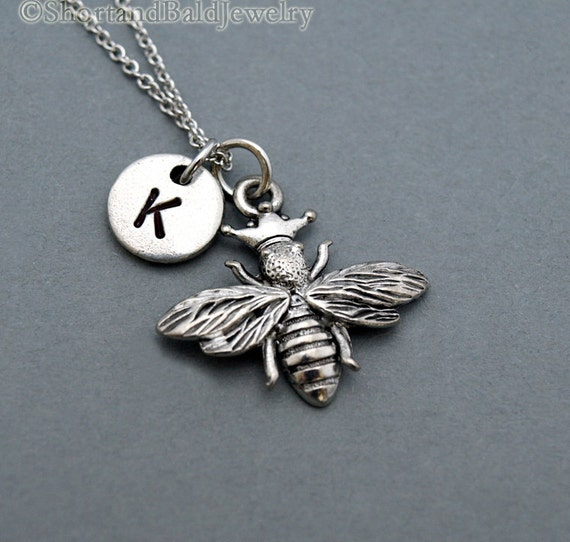 Queen bee charm necklace Honey bee charm by ...