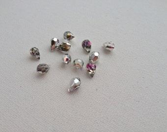 6x10mm Crystal Vitrail Light Preciosa Czech Crystal Drop Pendants 6pcs