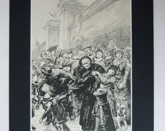 1881 Antique Hubert Von Herkomer Print - Victorian Wall Art Print - Victorian Gift - Victorian Decor - Victorian Art Print - Antique Art