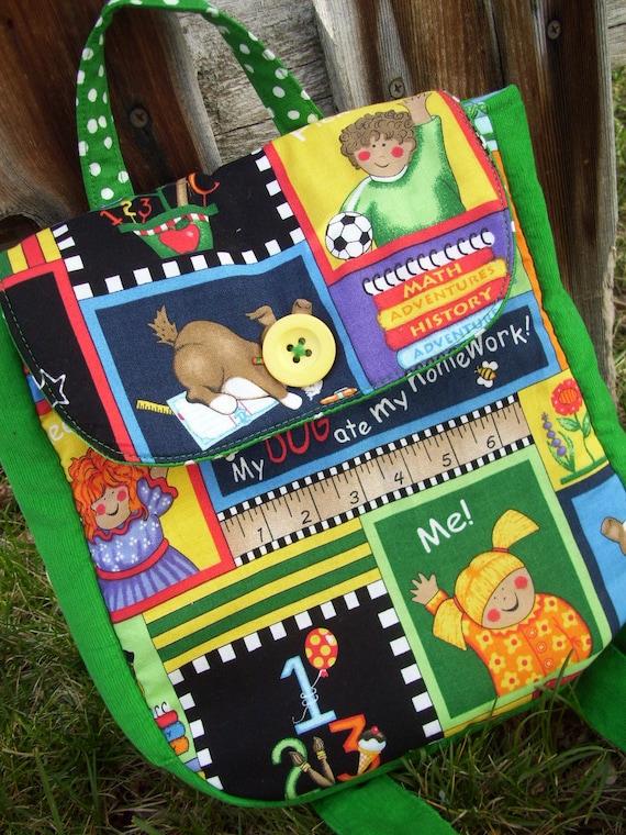 Toddler Backpack, School Themed Backpack