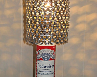 Vintage Budweiser Beer Can Lamp With Pull Tab Lamp Shade - The Mancave Essential