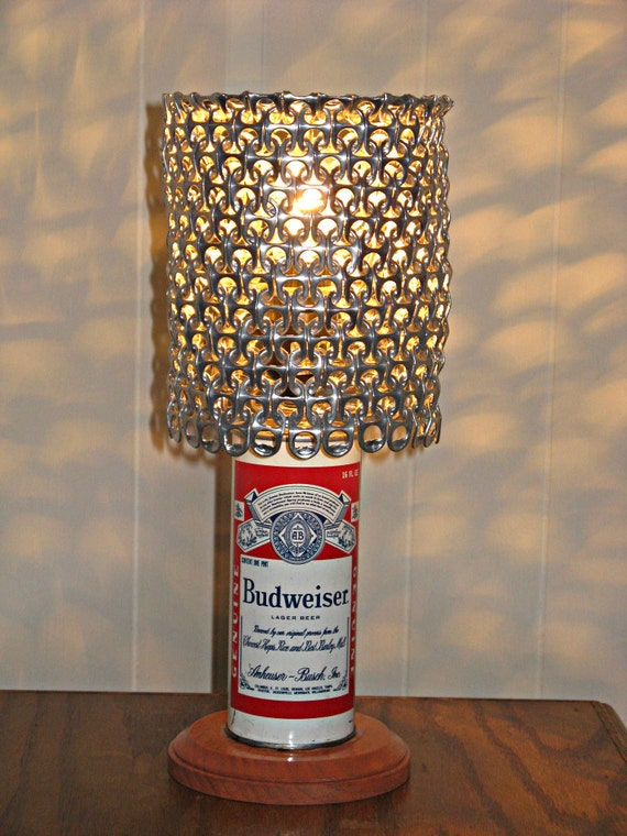 Vintage Budweiser Beer Can Lamp With Pull Tab Lamp Shade The