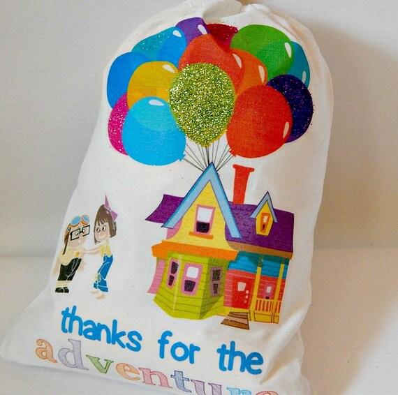 Items Similar To Birthday Favor Bags Disney Pixar Up The