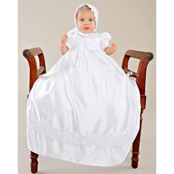 Olivia LDS Blessing Baptism Christening Gown by eSmallChild