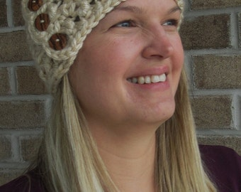 "Crochet Pattern: ""Knotted Threads"" Head Wrap, Permission to Sell Finished Items"