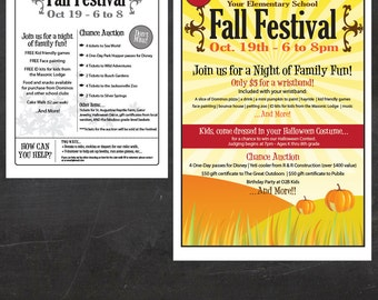 School Fall Festival - Event Custom Printable - flyer and poster