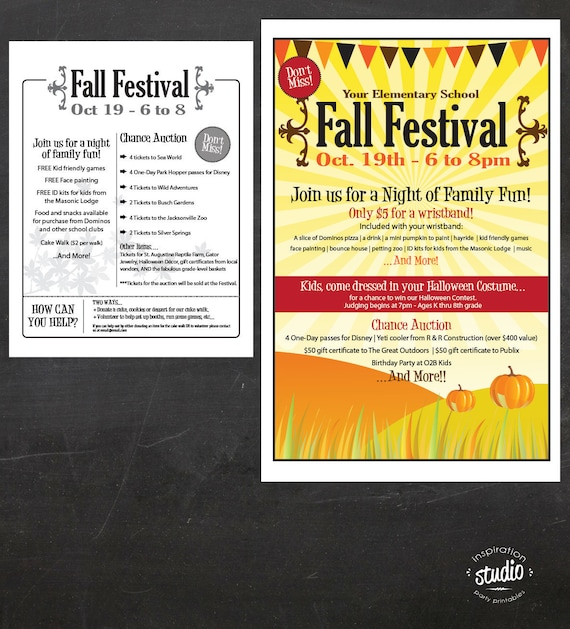 Fall Festival Poster Ideas