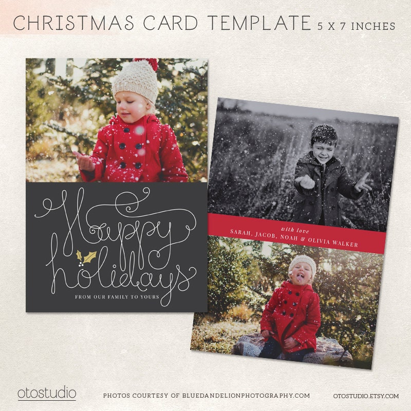 digital christmas card template