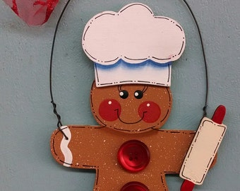 Gingerbread Baker Christmas Ornament