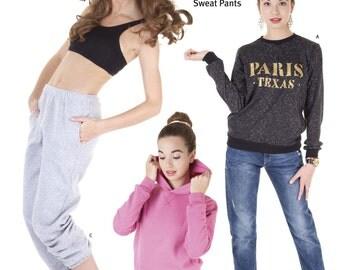 Jalie Sweatshirt, Hoodie & Sweat Pants Sewing Pattern #3355 in 27 Sizes for Women and Girls