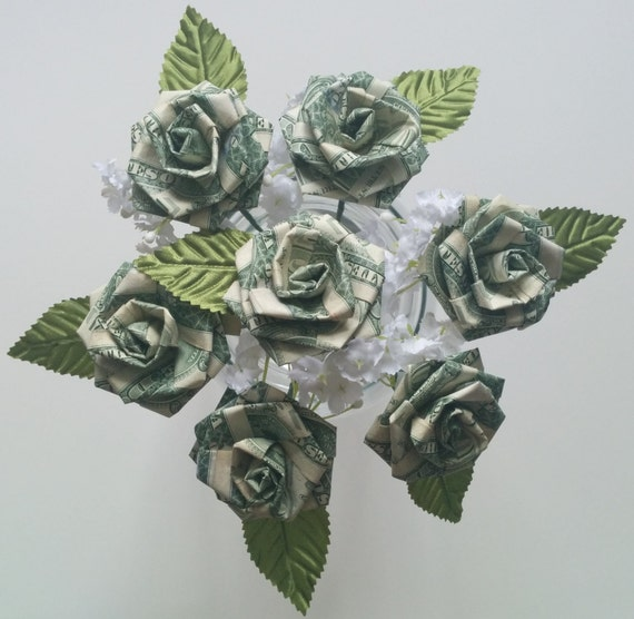 Origami Money Rose for Wedding/ Party Favors/ Anniversary/ - photo#14