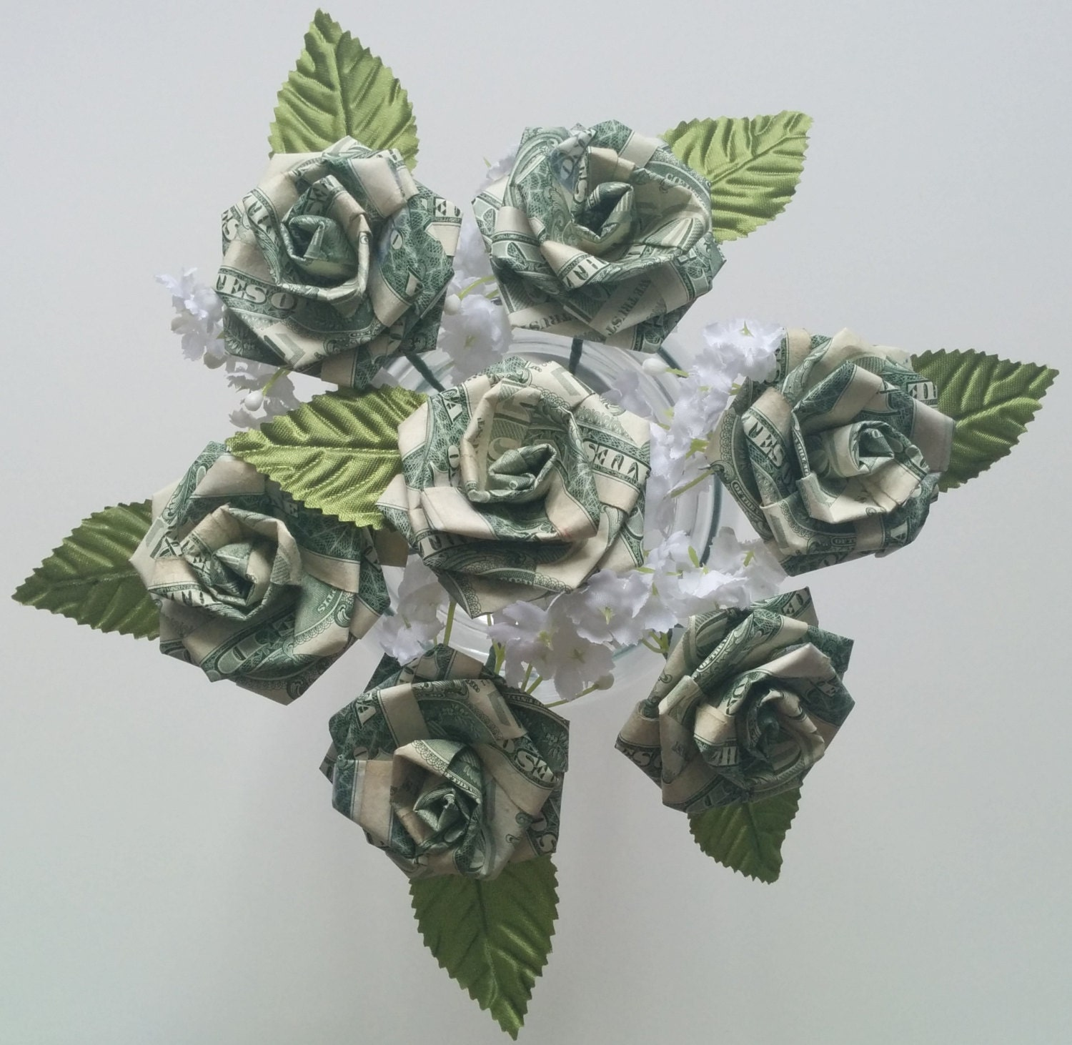 Origami Money Rose for Wedding/ Party Favors/ Anniversary/ - photo#28