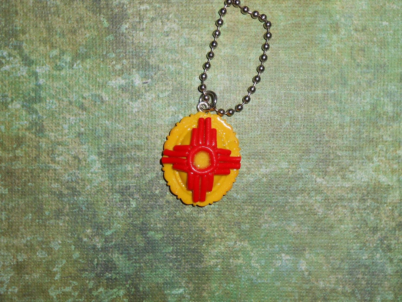 New mexico zia necklace made in albuquerque new mexico for Custom jewelry albuquerque new mexico