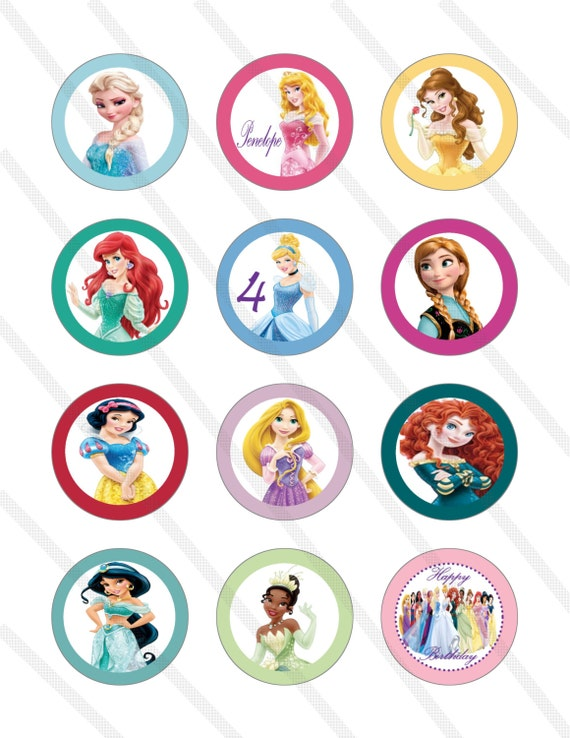 Items Similar To Disney Princess Birthday Party 2 Inch