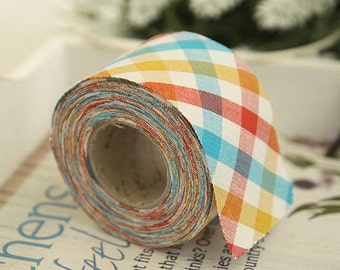 """2"""" Cotton Bias Tape Checkered 1 Roll 10 Yards 46209"""