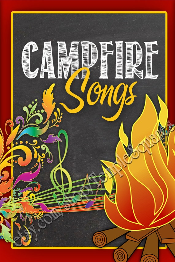 PRINTABLES - YW Girls Campfire Songs Book. LDS 2 Sizes.