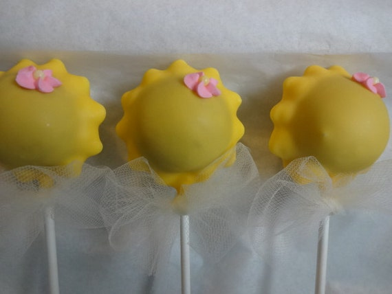 Are My Sunshine Cake Pops, Sunshine Cake Pops, Baby Shower Cake Pops ...