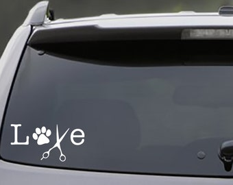 For the Love of Grooming Decal