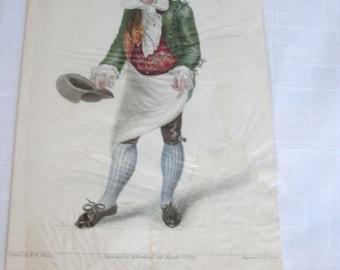 Antique 1822 Mr. Gattie Color Print