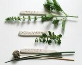 Plant Markers Set of 3 - Garden Gifts - Herb Garden Markers - Custom Garden Signs - Gardener Gift - Clay Garden Stakes - Vegetable Markers