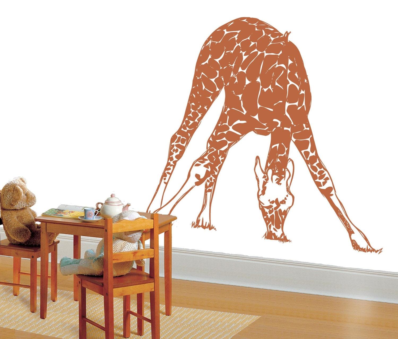 Park Lane Couture Giraffe grazing eating nursery  wall mural decal stencil safari animal theme jungle at Sears.com