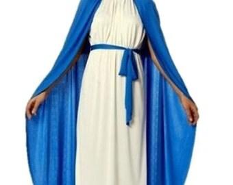 Virgin Mary Costume Nativity Christmas Ladies Womens Childs  Fancy Dress Costume